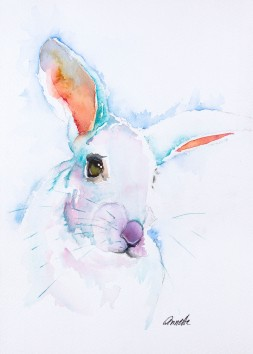 turquoise-bunny-rabbit-original-watercolor-painting-by-annette-bennett