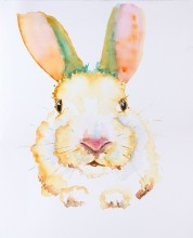 yellow-bunny-rabbit-original-watercolor-painting-by-annette-bennett